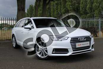 Audi A4 40 TDI Sport 5dr S Tronic in Ibis White at Coventry Audi
