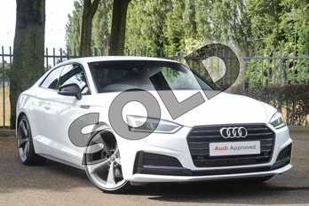 Audi A5 35 TFSI Black Edition 2dr S Tronic in Ibis White at Coventry Audi