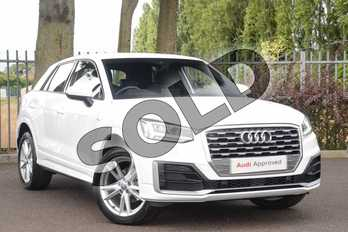 Audi Q2 35 TFSI S Line 5dr S Tronic in Ibis White at Coventry Audi