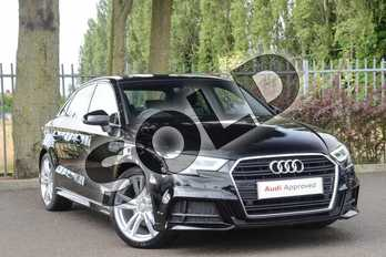 Audi A3 30 TFSI S Line 4dr S Tronic in Brilliant Black at Coventry Audi