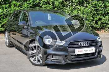 Audi A3 Diesel 30 TDI 116 Black Edition 5dr in Myth Black Metallic at Worcester Audi
