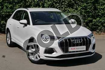 Audi Q3 35 TFSI Sport 5dr in Ibis White at Worcester Audi