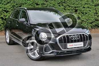 Audi Q3 Diesel 35 TDI S Line 5dr S Tronic in Myth Black Metallic at Worcester Audi