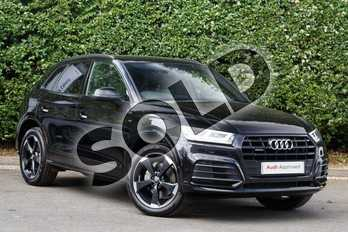 Audi Q5 Diesel 40 TDI Quattro Black Edition 5dr S Tronic in Myth Black Metallic at Worcester Audi