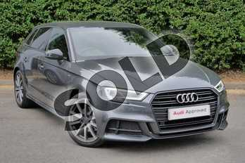 Audi A3 35 TFSI Black Edition 5dr S Tronic in Daytona Grey Pearlescent at Worcester Audi