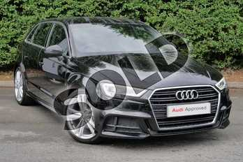 Audi A3 35 TFSI S Line 5dr in Myth Black Metallic at Worcester Audi