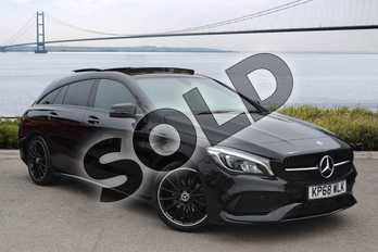 Mercedes-Benz CLA Class Shooting Brake CLA 200 AMG Line Night Edition Plus 5dr Tip Auto in Cosmos Black Metallic at Mercedes-Benz of Hull