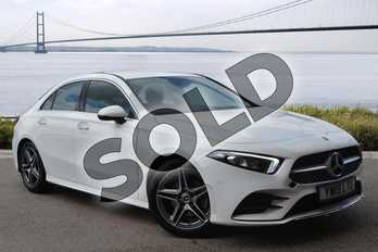 Mercedes-Benz A Class Diesel A180d AMG Line Executive 4dr Auto in Polar White at Mercedes-Benz of Hull