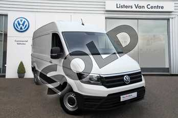 Volkswagen Crafter CR35 MWB Diesel 2.0 TDI 102PS Trendline High Roof Van in Candy White at Listers Volkswagen Van Centre Coventry