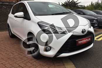 Toyota Yaris 1.5 VVT-i Icon 5dr in Pure White at Listers Toyota Boston