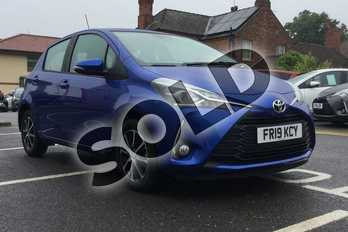 Toyota Yaris 1.5 VVT-i Icon Tech 5dr in Nebula Blue at Listers Toyota Boston