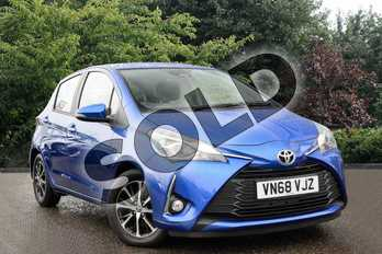 Toyota Yaris 1.5 VVT-i Icon Tech 5dr in Nebula Blue at Listers Toyota Cheltenham