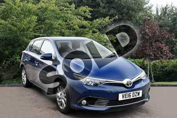 Toyota Auris 1.2T Icon 5dr in Blue at Listers Toyota Stratford-upon-Avon