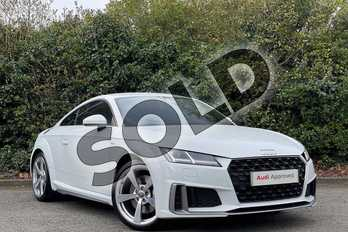 Audi TT 45 TFSI S Line 2dr S Tronic in Glacier White Metallic at Worcester Audi