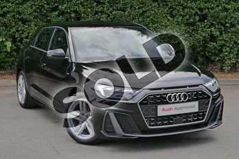 Audi A1 30 TFSI S Line 5dr S Tronic in Myth Black Metallic at Worcester Audi