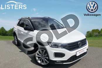 Volkswagen T-Roc Diesel 2.0 TDI SEL 4MOTION 5dr in Pure white at Listers Volkswagen Worcester