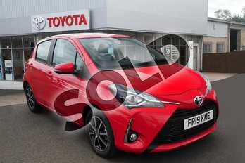 Toyota Yaris 1.5 VVT-i Icon Tech 5dr in Red at Listers Toyota Grantham