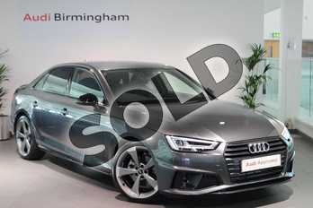 Audi A4 35 TFSI Black Edition 4dr S Tronic in Daytona Grey Pearlescent at Birmingham Audi