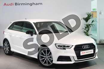Audi A3 Diesel 30 TDI 116 Black Edition 5dr in Ibis White at Birmingham Audi