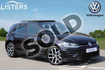 Volkswagen Golf 1.5 TSI EVO 150 R-Line 5dr DSG in Deep Black at Listers Volkswagen Nuneaton