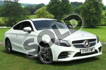 Mercedes-Benz C Class C180 AMG Line Premium 2dr 9G-Tronic in Polar White at Mercedes-Benz of Grimsby