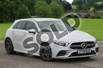 Mercedes-Benz A Class AMG A35 4Matic Premium 5dr Auto in digital white metallic at Mercedes-Benz of Grimsby
