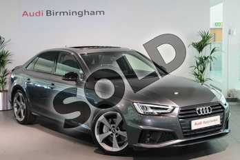 Audi A4 40 TDI Black Edition 4dr S Tronic in Daytona Grey Pearlescent at Birmingham Audi