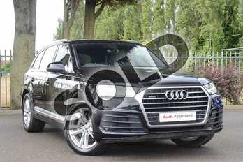 Audi Q7 45 TDI Quattro S Line 5dr Tiptronic in Orca Black Metallic at Coventry Audi