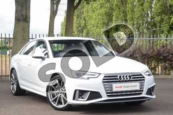 Audi A4 40 TDI S Line 4dr S Tronic in Glacier White Metallic at Coventry Audi
