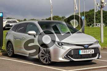 Toyota Corolla Touring Sport 2.0 VVT-i Hybrid Design 5dr CVT in Sterling Silver at Listers Toyota Lincoln