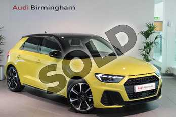 Audi A1 Special Editions 35 TFSI S Line Contrast Edition 5dr S Tronic in Python Yellow Metallic at Birmingham Audi