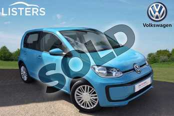 Volkswagen Up 1.0 Move Up 5dr in Teal Blue at Listers Volkswagen Loughborough