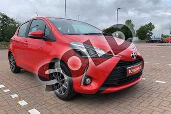 Toyota Yaris 1.5 Hybrid Icon Tech 5dr CVT in Chilli Red at Listers Toyota Cheltenham