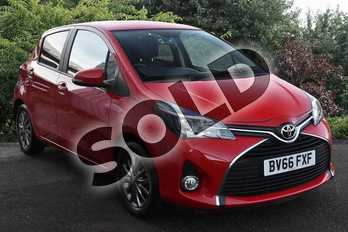 Toyota Yaris 1.0 VVT-i Icon 5dr in Chilli Red at Listers Toyota Coventry