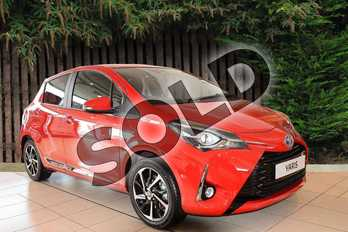Toyota Yaris 1.5 Hybrid Excel 5dr CVT in Red at Listers Toyota Coventry