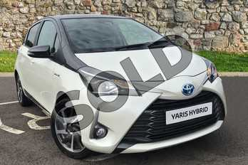 Toyota Yaris 1.5 Hybrid Y20 5dr CVT in White at Listers Toyota Coventry