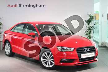Audi A3 Diesel 2.0 TDI 184 Sport 4dr (Nav) in Brilliant Red at Birmingham Audi