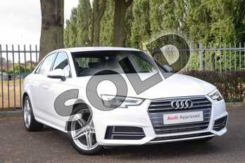 Audi A4 2.0T FSI S Line 4dr in Ibis White at Coventry Audi