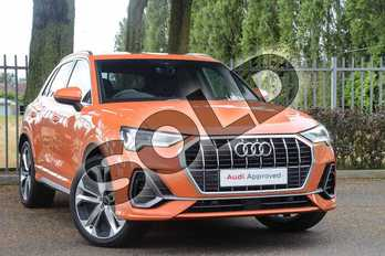 Audi Q3 35 TFSI S Line 5dr S Tronic in Pulse Orange at Coventry Audi