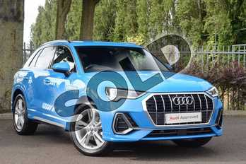 Audi Q3 35 TFSI S Line 5dr in Turbo Blue at Coventry Audi