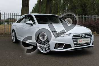 Audi A4 35 TFSI S Line 4dr S Tronic in Glacier White Metallic at Coventry Audi