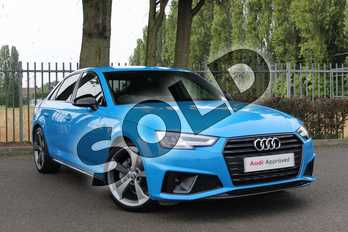 Audi A4 40 TDI Black Edition 4dr S Tronic in Turbo Blue at Coventry Audi