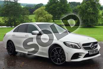 Mercedes-Benz C Class C180 AMG Line Premium 4dr Auto in Polar White at Mercedes-Benz of Grimsby