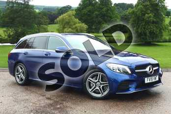 Mercedes-Benz C Class Diesel C200d AMG Line Premium 5dr Auto in brilliant blue metallic at Mercedes-Benz of Grimsby