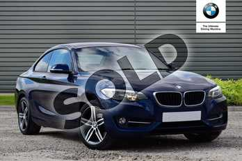 BMW 2 Series 218i Sport 2dr (Nav) Step Auto in Deep Sea Blue at Listers Boston (BMW)