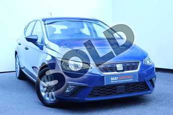 SEAT Ibiza 1.0 TSI 95 SE 5dr in Blue at Listers SEAT Worcester