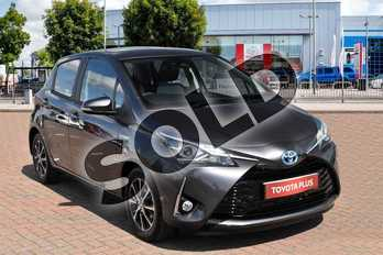 Toyota Yaris 1.5 VVT-i Icon Tech 5dr in Dacuma Grey at Listers Toyota Cheltenham