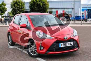 Toyota Yaris 1.5 VVT-i Icon 5dr in Chilli Red at Listers Toyota Coventry