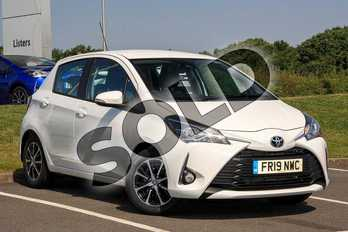 Toyota Yaris 1.5 VVT-i Icon Tech 5dr in White at Listers Toyota Lincoln