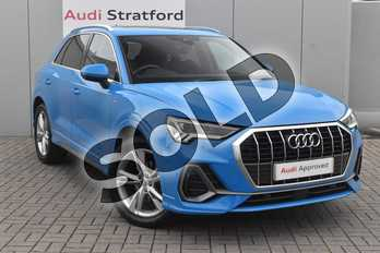 Audi Q3 Diesel 35 TDI S Line 5dr S Tronic in Turbo Blue at Stratford Audi